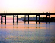 Dale Ford Prints - Bridge at Sunset Print by Dale   Ford