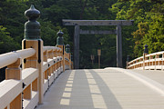 Japanese Landscape Framed Prints - Bridge at the Entrance to a Shrine Framed Print by Jeremy Woodhouse