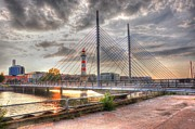 Malmo Digital Art Prints - Bridge Print by Barry R Jones Jr