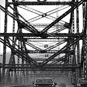 Storm Art - #bridge #black&white #rain #storm by Jessica Cannizzaro