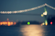 Lions Gate Bridge Framed Prints - Bridge Bokeh! Framed Print by Arshia Mandegarian