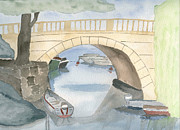 River Drawings - Bridge by Eva Ason