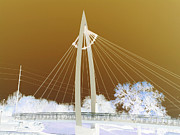 Web Gallery Posters - Bridge Iced Poster by David Alvarez