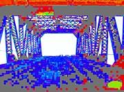 Bridge In Blue Print by Val Oconnor