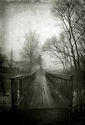 Suburbs Posters - Bridge In Fog Poster by Steven Ainsworth