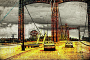 Yellow Bridge Digital Art Posters - Bridge in Minneapolis  Poster by Susan Stone
