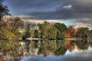 Reflections Prints - Bridge in the Park Print by Richard Gregurich