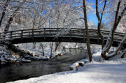 Kristin Elmquist Metal Prints - Bridge in Winter Metal Print by Kristin Elmquist