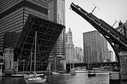 Lifts Framed Prints - Bridge lifts day in Chicago Framed Print by Sven Brogren