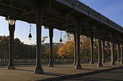 Bir Prints - Bridge of Bir Hakeim in Paris Print by Louise Heusinkveld