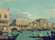 Canals Painting Prints - Bridge of Sighs Print by Canaletto