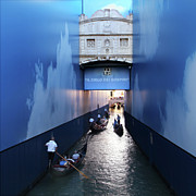 17th C Framed Prints - Bridge of Sighs Wrapped in Blue Framed Print by Vicki Hone Smith