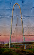 Dallas Digital Art Metal Prints - Bridge on Paper Metal Print by David Clanton