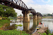 Travel Sightseeing Prints - Bridge on the River Kwai Print by Artur Bogacki