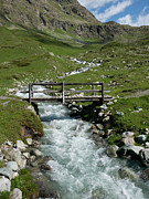 Graubunden Posters - Bridge Over A Mountain Creek Poster by Buena Vista Images