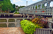Susan Leggett Metal Prints - Bridge Over Canal Metal Print by Susan Leggett