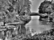 Bridge Over River Print by Roberto Alamino