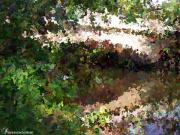 Garden - Bridge Over Still Waters Painting by Dawn Hay