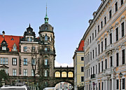 Aristocracy Photos - Bridge over Taschenberg Street Dresden by Christine Till