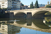John Williams Metal Prints - Bridge over the river Arno Metal Print by John Williams