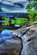 Covered Bridge Prints - Bridge Over the Rock Print by Emily Stauring