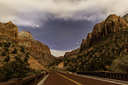 Road Travel Prints - Bridge Over The Virgin River By Moonlight Print by Ed Leckert