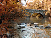 Philly Digital Art Metal Prints - Bridge Over the Wissahickon at Valley Green Metal Print by Bill Cannon