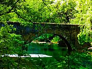 Valley Green Prints - Bridge Over the Wissahickon Print by Bill Cannon