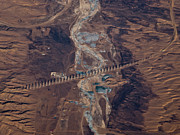 Physical Geography Posters - Bridge Project In Gobi Desert Poster by Victor Gil Gazapo