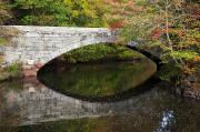 Blackstone River Prints - Bridge Reflections Print by Jenna Szerlag