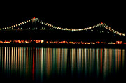 Glow Art - Bridge Reflections by Rose Pasquarelli