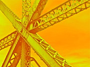 Metal Structure Digital Art Prints - Bridge Seeking Print by Gwyn Newcombe