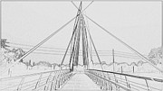 Web Gallery Framed Prints - Bridge sketch Framed Print by David Alvarez