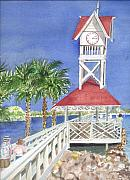 Florida Bridge Originals - Bridge Street Pier by Rebecca Marona