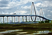 Bridge To Charleston Print by Darleen Stry