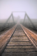 Fog Digital Art Acrylic Prints - Bridge to fog Acrylic Print by Veikko Suikkanen