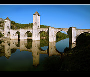 Arch Bridge Photos - Bridge Valentre by Dubusregis