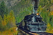 Steam Engine Photos - Bridge View by Ken Smith