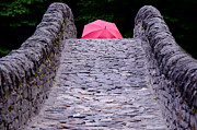 Stone Bridge Photos - Bridge with a umbrella by Mats Silvan