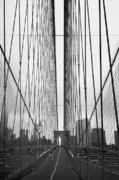 Twin Towers World Trade Center Prints - Bridge Work Print by Joann Vitali