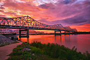 Bridges At Sunrise II Print by Steven Ainsworth