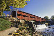 Original States Posters - Bridgeton Covered Bridge - FM000064 Poster by Daniel Dempster