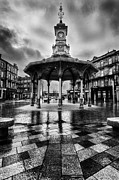 Tiled Photo Prints - Bridgeton Cross Bandstand Glasgow Print by John Farnan