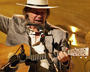 Neil Young Photo Originals - Bridging Neil - 2004 by Dennis Jones