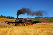 Steam Train Prints Art - Bridging the Gap by Ken Smith