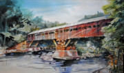 Taftsville Metal Prints - Bridging Woodstock Metal Print by P Anthony Visco