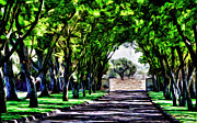 Vineyard Digital Art - Bridlewood Entry by Patricia Stalter