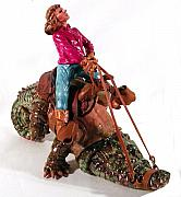 Cowgirl Sculpture Originals - Bridling My Tongue by Karen Fulk