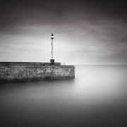 Mono Acrylic Prints - Bridlington Harbour Acrylic Print by Ian Barber