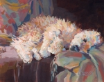 Tapestry Paintings - Brie as Odalisque by Kimberly Santini
